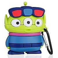 ケース for Airpods 2/1 キャラクター かわいい イヤーチップ シリコン おしゃれ 落下防止 衝撃を防ぐ アニメ 可愛い 漫画 人気 萌え ダストガード Airpod 第2/1世代に適用 カバーAir Pods (Three Eye Monster)