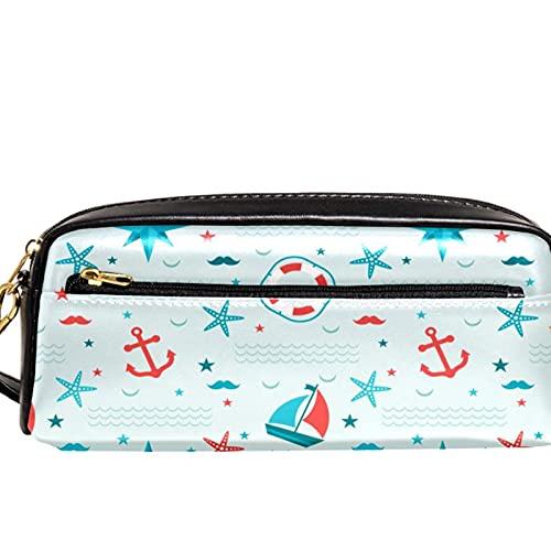 Estuche para lápices náuticos con diseño de estrella de mar, gran capacidad, organizador para bolígrafos, para la escuela, adolescentes, niños, niñas, hombres y mujeres