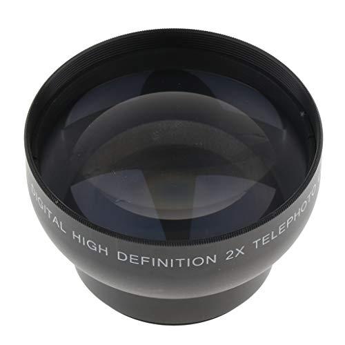 gazechimp Lente Telefoto De Ampliação 2x De 43mm Para Canon Nikon Pentax Sony DSLR Silver