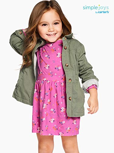 Simple Joys by Carter's Baby and Toddler Girls' Twill Button up Jacket