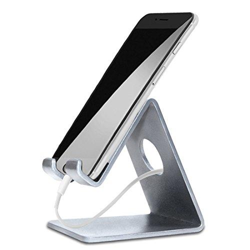 ELV Desktop Cell Phone Stand Tablet Stand, Aluminum Stand Holder for Mobile...