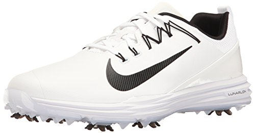 Nike Lunar Command 2, Zapatos de Golf para Hombre, Blanco Black-White 100, 43 EU