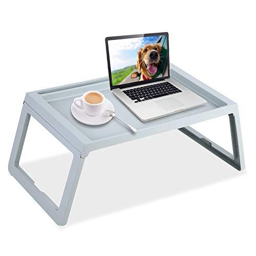 Greensen Bandeja plegable para el hogar, bandeja de desayuno, mesa de desayuno con patas plegables soporte de lectura para cama, sofá, mesa de cocina o mini sistema para niños (azul)