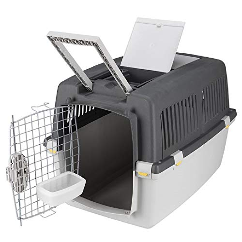 PaylesswithSS Transportador de perros Cajón de transporte Avión Tren Coche Ruedas seguras con cerradura (tamaño 7: 104 x 73 x 75 cm (largo x ancho x alto)