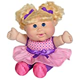 """Cabbage Patch Kids Deluxe Babble 'n Sing Toddler in Pink Fashion, 11"""" - Squeeze Hand, Doll Babbles, Giggles, Sings, 9 Sing-Along Songs - Classic 1998 CPK Dolls!"""