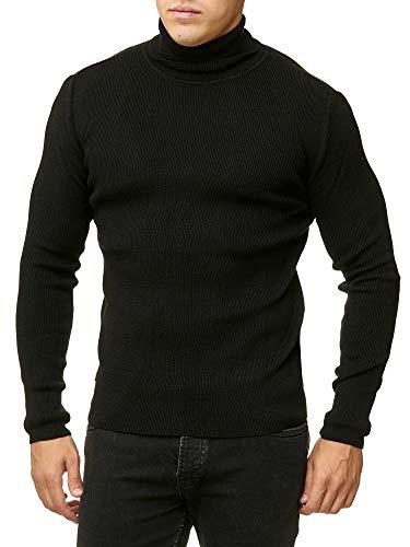 Red Bridge Suéter de Cuello Alto de Hombre Otoño Básico Business Moda Suave Pulóver Negro