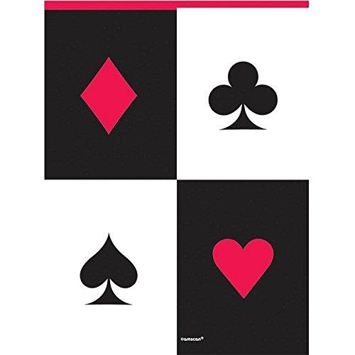 amscan 571227 Needs, Casino Plastic Table Cover, meerkleurig, 54 inch x 102 inch