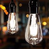 Led Bulbs 6 Packs 60 Watt Equivalent, Dimmable Edison Light Bulb 6W E26 Base Vintage Led Light Bulb, Amber Bulbs, Daylight White