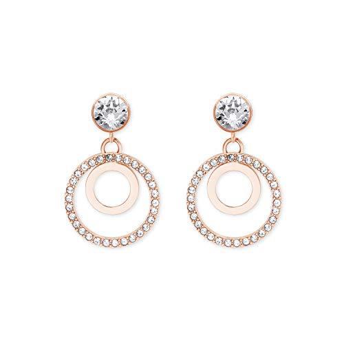 s.Oliver Hänger für Damen mit Swarovski® Kristallen aus Edelstahl IP Rose