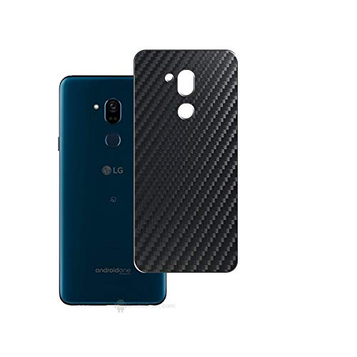 Vaxson 2-Pack Back Protector Film, compatible with LG X5 ANDROID ONE, Black Carbon Fiber Guard Cover Skin [Not Tempered Glass/Not Front Screen Protectors]