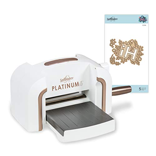 Spellbinders Platinum 6 Inch Platform Cutting Machine + Die, White
