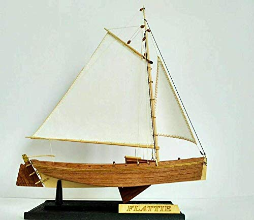 DressU Longevidad Decoraciones Barcos Barco Kit Modelo del Barco de Vela de Madera Educativo Kit Modelo: Escala 1/35 Pesca Estadounidense Barco Flattle Modelo Durabilidad