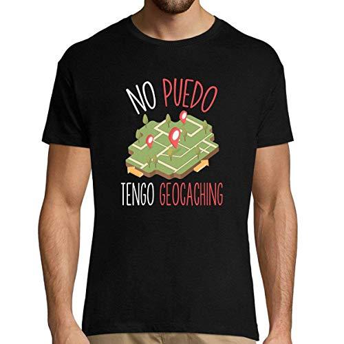 No Puedo Tengo Geocaching | Camiseta Hombre Diseño Humor para Amantes de Geocaching 3XL
