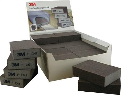 3M 63199Esponja de Lija, Medium, 68mm x 100mm x 26mm, (24unidades)