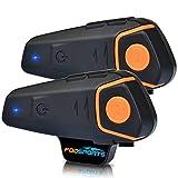 Motorcycle Intercom- Fodsports BT-S2-Kit de communication Bluetooth pour casque de moto, de ski, radio FM, pour 3personnes