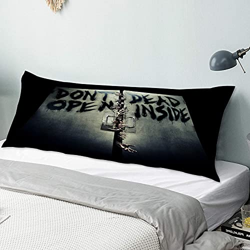 LONSANT Body Pillow Cover,Zombies Terrible Hands The Walking Dead Unique,Long Pillow Case with Zipper Closure,Decorative Bedding Bedroom Couch Sofa Decor Home Gift,20' x 54'