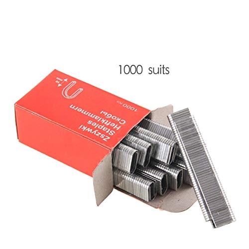 Sylvialuca 1000 Stück U-förmige Heftklammern 1,2 mm Dicke, rostfreie Nägel zum Einrahmen von Tacker-Zubehör für Handklammerpistolen Zimmermannswerkzeug