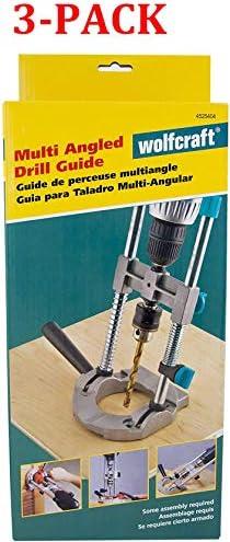 Wolfcraft 4525404 Multi-Angle Drill Guide Attachment For 1/4In. & 3/8In. Drills,Silver
