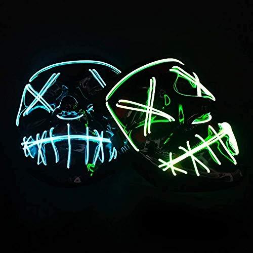 Flash Wear Purge LED MaskHalloween Costume LED Glow Scary Light Up Masks for Festival...