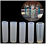 YFHBDJK 10 unids/Set DIY Colgante Silicona líquida Molde Resina joyería Colgante Molde Hecho a Mano decoración Herramientas Cilindro Trapezoidal Cristal (Color : 5pcs)