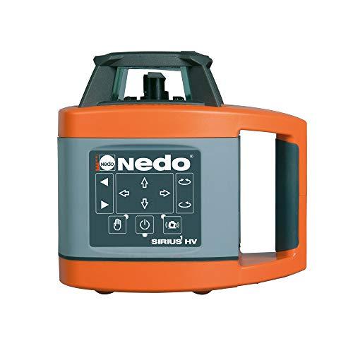 Nedo SIRIUS 1 HV horizontal und vertikal selbstnivellierender Rotationslaser mit Nedo Kurbelstativ und Flexilatten-Set - Baulaser Nivellierlaser mit ACCEPTOR 2 Digital u. Klammer, Laserklasse 2 - 2