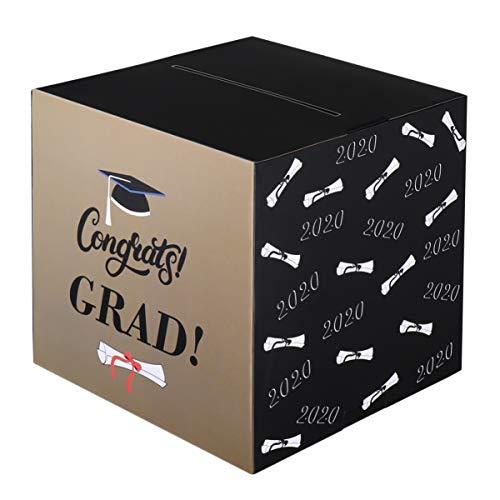 PRETYZOOM 2020 Graduation Card Box Congrats Grad Gift Card Box Perfect for Graduation Party Graduation Ceremony or Birthday Party, Graduation Party Supplies