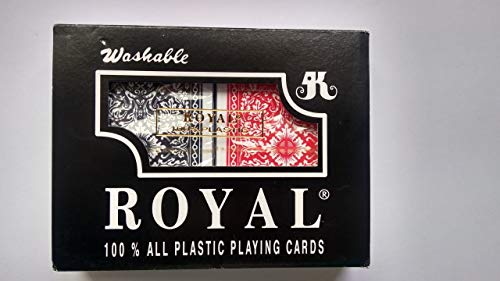 chh bridge playing cards Royal 100% Plastic Big# Bridge Double Decks Display, Pack of 6