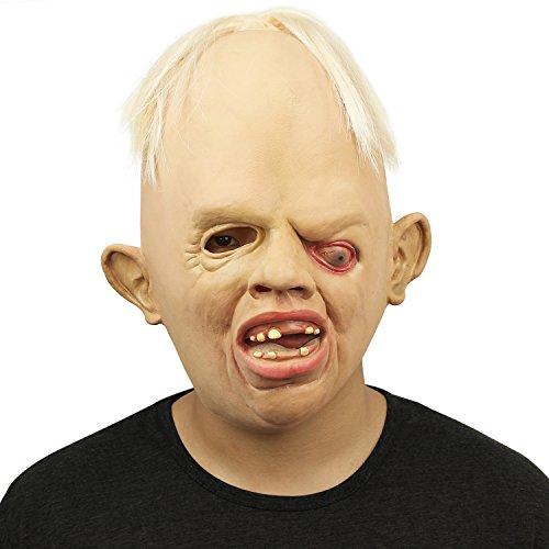 Cusfull Neue Latex Gummi Gruselig Schrecklich Gesicht Maske Kopfmaske Furchtbar für Halloween Weihnachten Kostüm Party