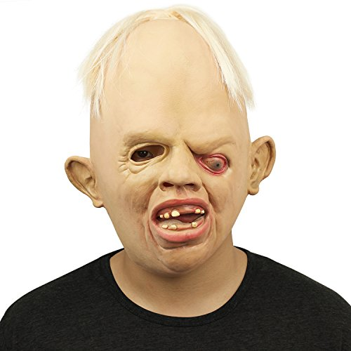 BengPro Novelty Latex Rubber Creepy Scary Ugly Baby Head The Goonies Sloth Mask Halloween Party Costume Decorations