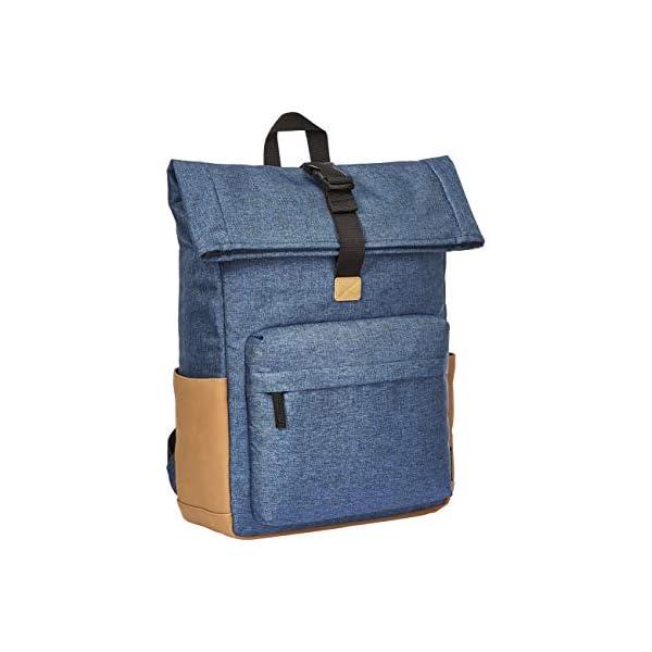 413WDYv54sL. SS600  - AmazonBasics - Mochila azul marino antirrobo con cierre enrollable
