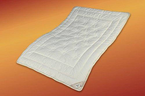 Garanta (33-) Zirbe Bettdecke 155x200 Bio Steppbett extra leicht Wolle öko Komfortgröße