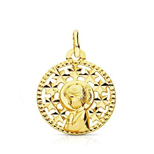 OROCORDOBA Medalla Bebé/Niña Oro Amarillo 18 ktes Tamaño 16 mm Vírgen Niña Comunión