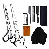 Set De Tijeras, Acero Inoxidable Professional Hair Cutting Professional 6.0inch Hair Thinning Scissors Tijeras De Peluquería para Peluquería O Uso Doméstico, Ligeras Y Afiladas