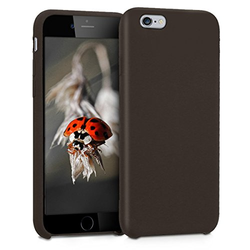 kwmobile Funda Compatible con Apple iPhone 6 / 6S - Carcasa de TPU para móvil - Cover Trasero en café