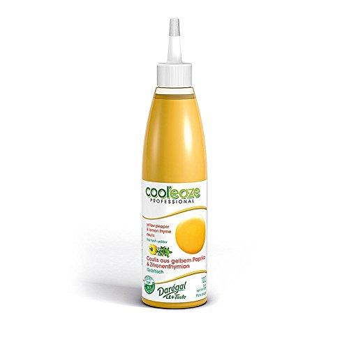 Coulis Gelbfrisch, aus gelber Paprika + Zitronen Thymian, DAREGAL, TK, 2x240g, insgesamt 480g.
