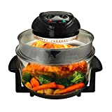Megachef 930111971M Multipurpose Halogen Oven Air fryer in Black, 13 quart