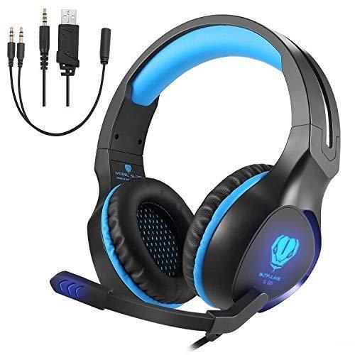 Gaming headset voor PS4,3.5mm Noise Cancelling Hoofdtelefoon met Microfoon Surround Basgeluid voor PS4 Xbox One PC Laptop Mac Tablet