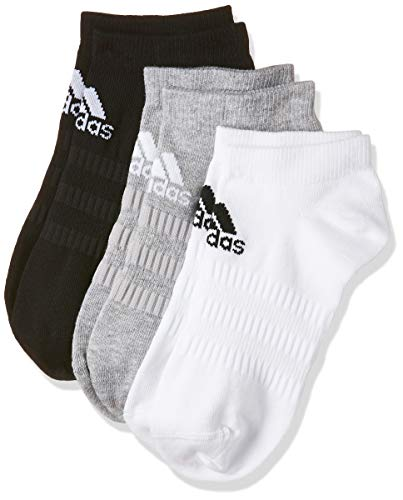 adidas Herren Socken Light Low 3PP, Mgreyh/White/Black, M, DZ9400