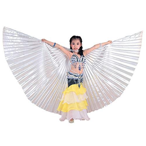 Zhhlinyuan 360 Grados Alas de Danza del Vientre Trajes de la Etapa Props para Niños - Salón de Baile Partido Egipcio Danza alas con Palos telescópicos