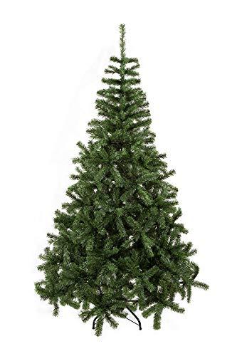 UMI. Essentials Weihnachtsbaum künstlicher Tannenbaum Christbaum Metallständer Schneller Aufbau mit Klappsystem Material PVC (Grün, 180cm)