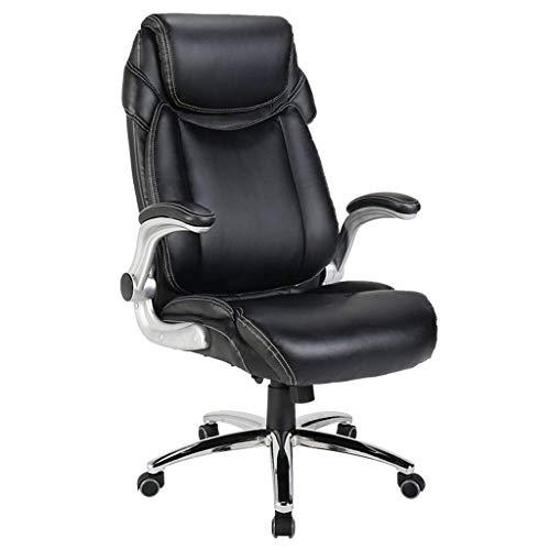 ZHANGYY Sillón de Oficina, ergonómico, Respaldo cómodo y de Doble Grosor, pies de Acero sólido, Adecuado para Trabajadores de Oficina, Negro
