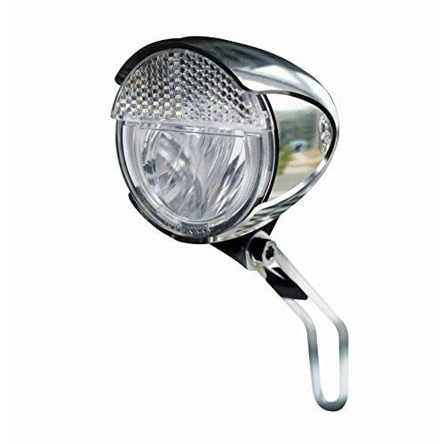 Trelock Faro LED Bike-I Retro Lux Cromo+POS.Auto.: Amazon.es: Deportes y aire libre