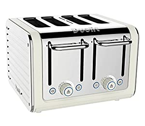 Dualit Architect 4-Slot Toaster 40523 - Stainless Steel with Canvas White Finish