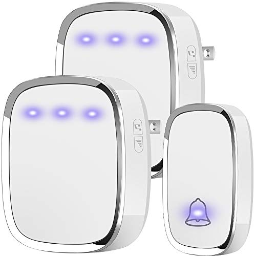 Anko Wireless Doorbell, Plug and Play Waterproof Door Bell Kit, 1000 Feet Operating Range, 36 Chimes...