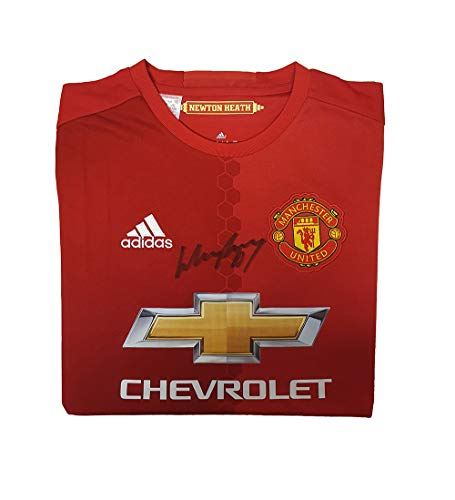 Manchester United Wayne Rooney 2016 (Home) signiertes Trikot – MUFC Manchester United Football Club Fanartikel, Souvenir, Geschenk, Sammlerartikel