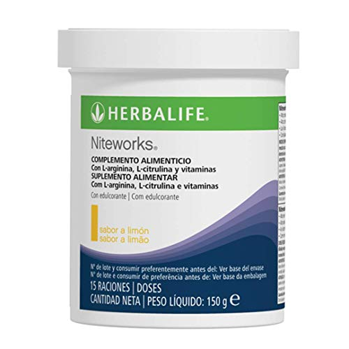 Herbalife - Complemento Alimenticio con L-Arginina Niteworks Sabor a Limón 150g