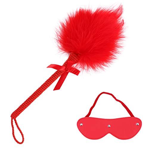 HEALLILY 2 Stuks Speelgoed Cosplay Cadeau Leer en Blinddoek Voor Vrouwen Spelen Rood