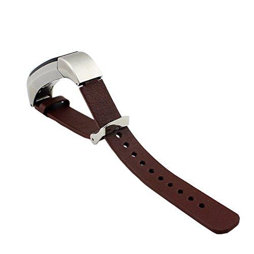 Pinhen - Cinturino per Fitbit Alta in vera pelle per Fitbit Alta HR e Alta HR (pelle marrone)