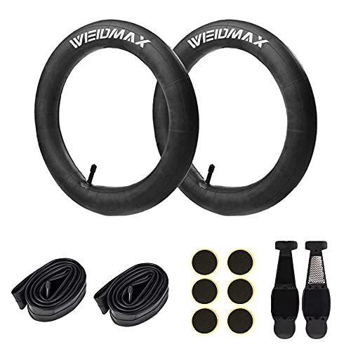 WEIDMAX 16 Inch Bike Tube, 16'' x 1.75/2.125 Replacement Inner Tire Tubes (2 Pack), Premium Butyl Rubber Thorn Resistant Inner Tire with Repair Tool Kit for BOB Revolution Strollers & Most Kid Bikes
