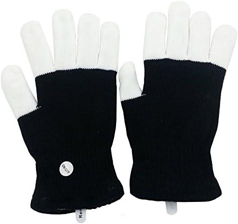 Light up Dancing Toys LED Flashing Finger Lighting Gloves Colorful Rave Gloves 7 Colors Light product image